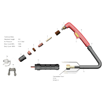 Cebora 150Amps GAS Cutting Torch for Plasma