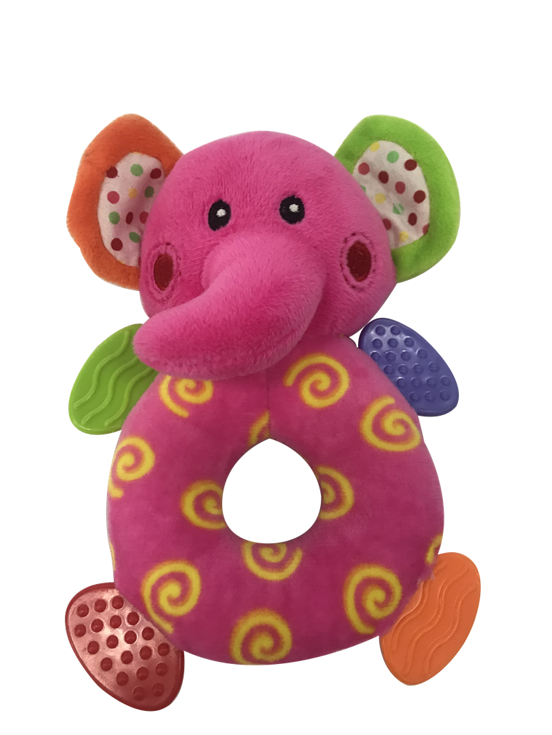 Plush Elephant With Rattle