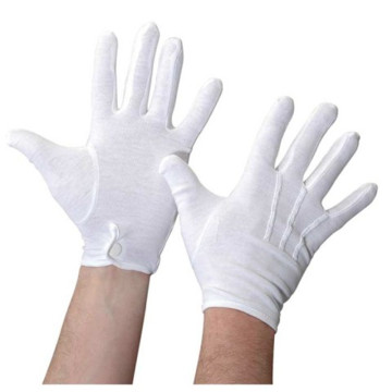 100% cotton white work gloves three tendons gloves