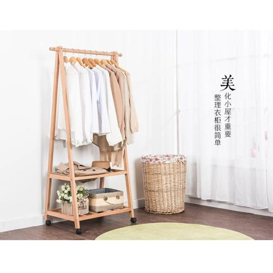 Bamboo clothes and hats rack