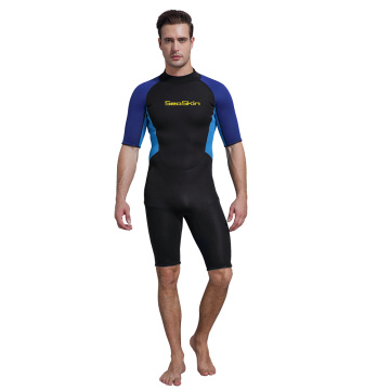 Seaskin Shorty Back Zip Wetsuit For Scuba Diving