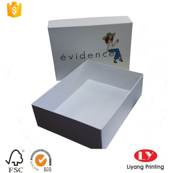 Custom clothes garment cardboard packaging Paper box