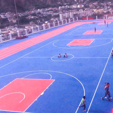 FIBA Outdoor basketball court floor