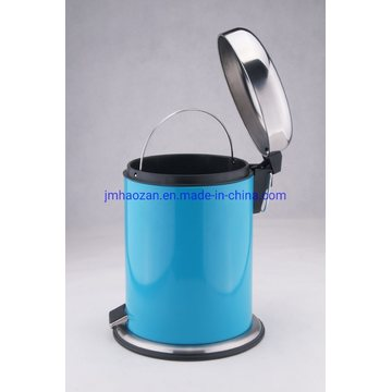 Stainless Steel Foot Pedal Dome Trash Bin, Dustbin with Steel Bottom