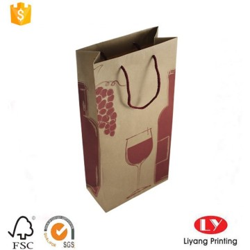 Kraft Paper Wine Gift Bag with Handle