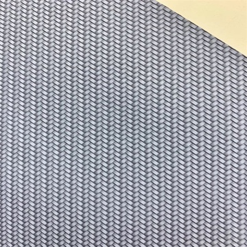 Hand Weave PU Artificial Faux Leather for Shoes