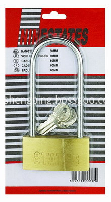 Solid Brass Padlock With Long Shackle