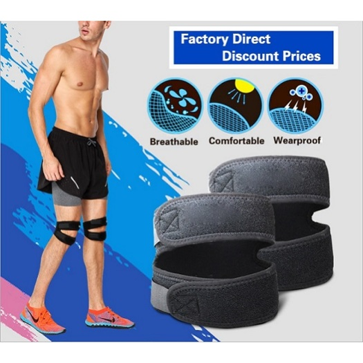 Breathable sports use patella cushion knee brace support