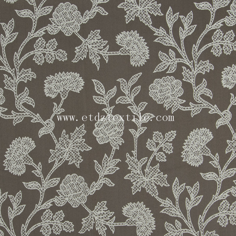embroidery cheap pirce fabric curtain