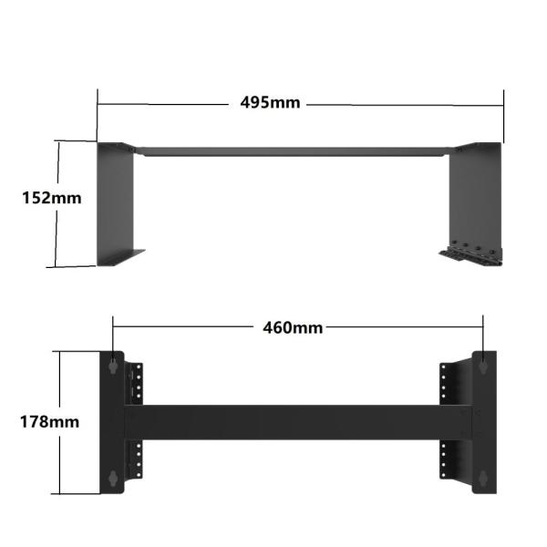 4U Server Rack Wall Mount Bracket
