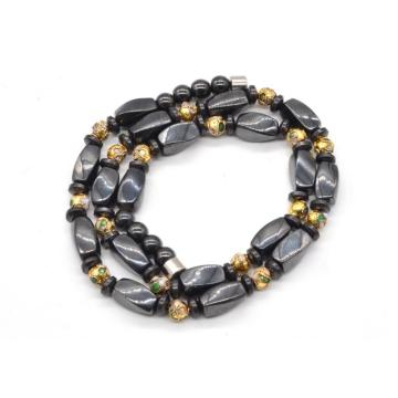 2016 Trendy Product Hematite Twist Beads Magnetic Clasp Necklace