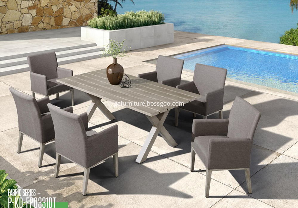 Concise outdoor and indoor common table and chair set