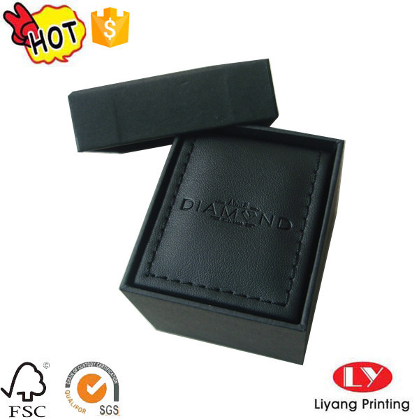 PU cardboard box for ring gift packaging