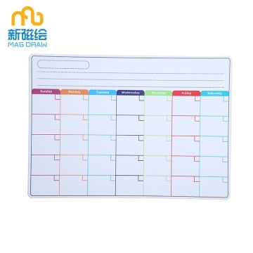 Dry Erase Magnetic Monthly Whiteboard Calendar for Fridge