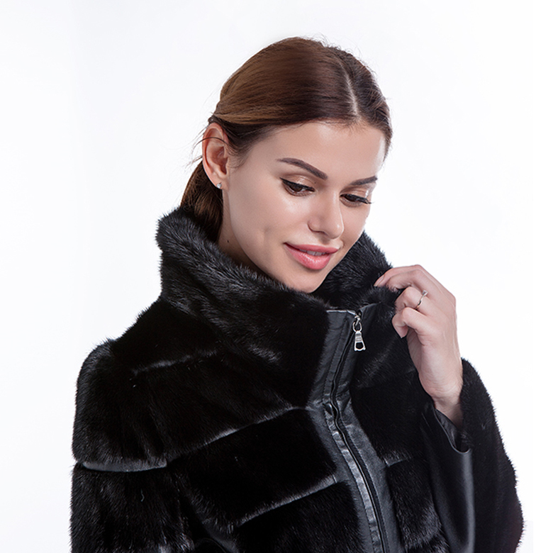New Model Black Fur Winter Coat