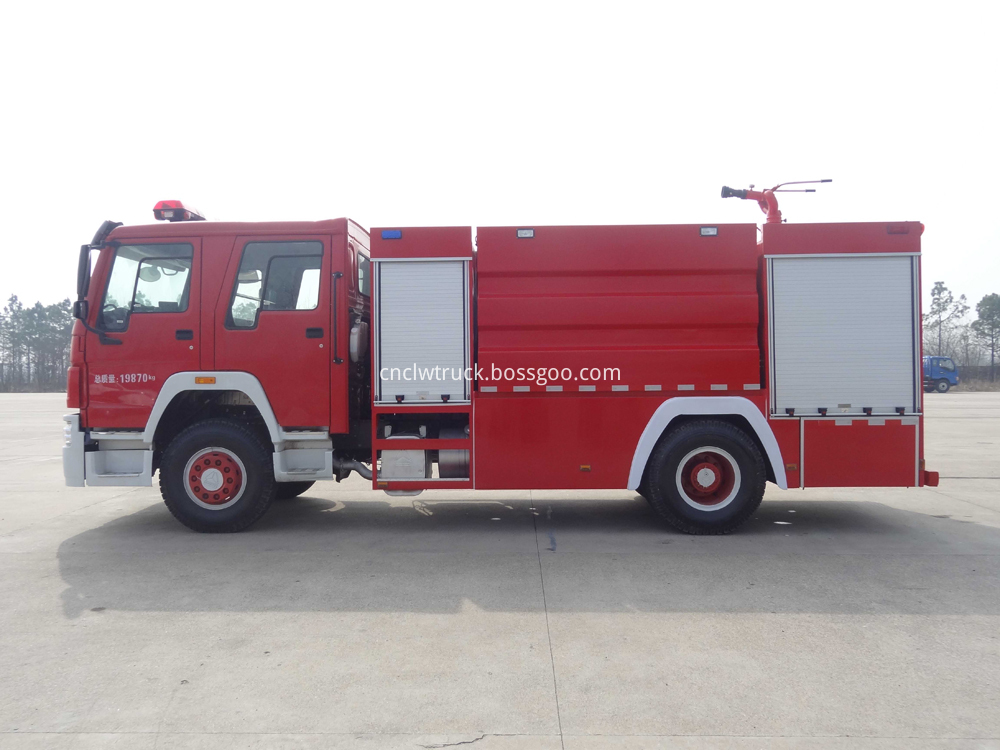 sino howo fire fighting truck 4
