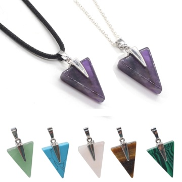 Semi Precious Gemstone Triangle Pendant Wholesale