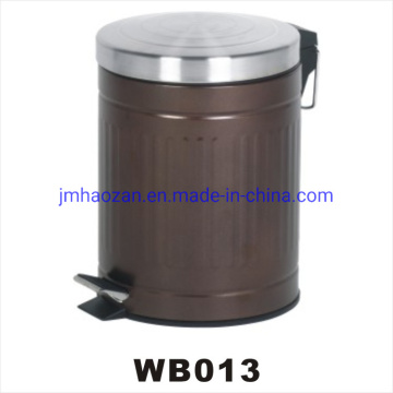 Stainless Steel Pedal Waste Bin, Dustbin with Flat Lid