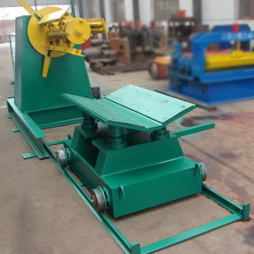 China new 5 ton hydraulic mandrel steel coil decoiler for sale