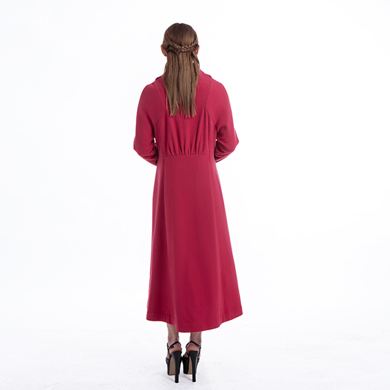 Ladies Gules Long Cashmere Coat
