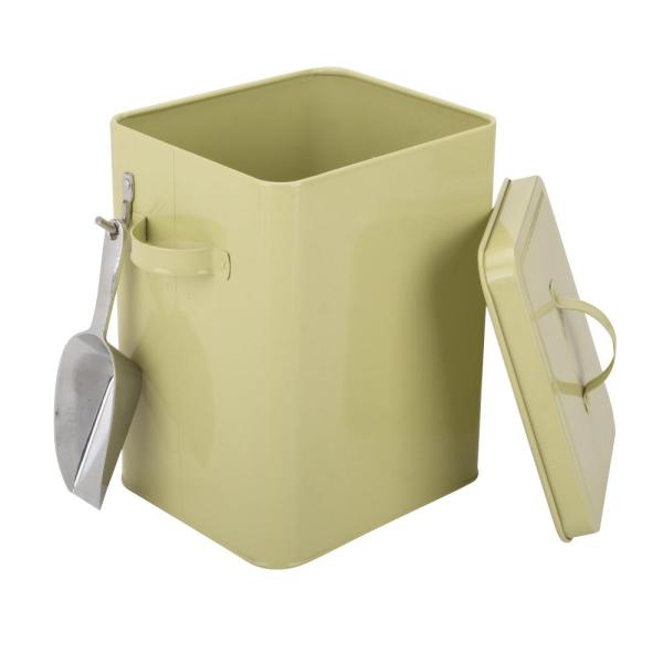 Bird feed container pet food container with scoop