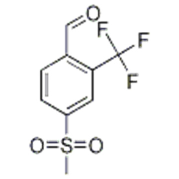 2-Formyl-5-(methylsulphonyl)benzotrifluoride, 4-Formyl-3-(trifluoromethyl)phenyl methyl sulphone CAS 1215310-75-0