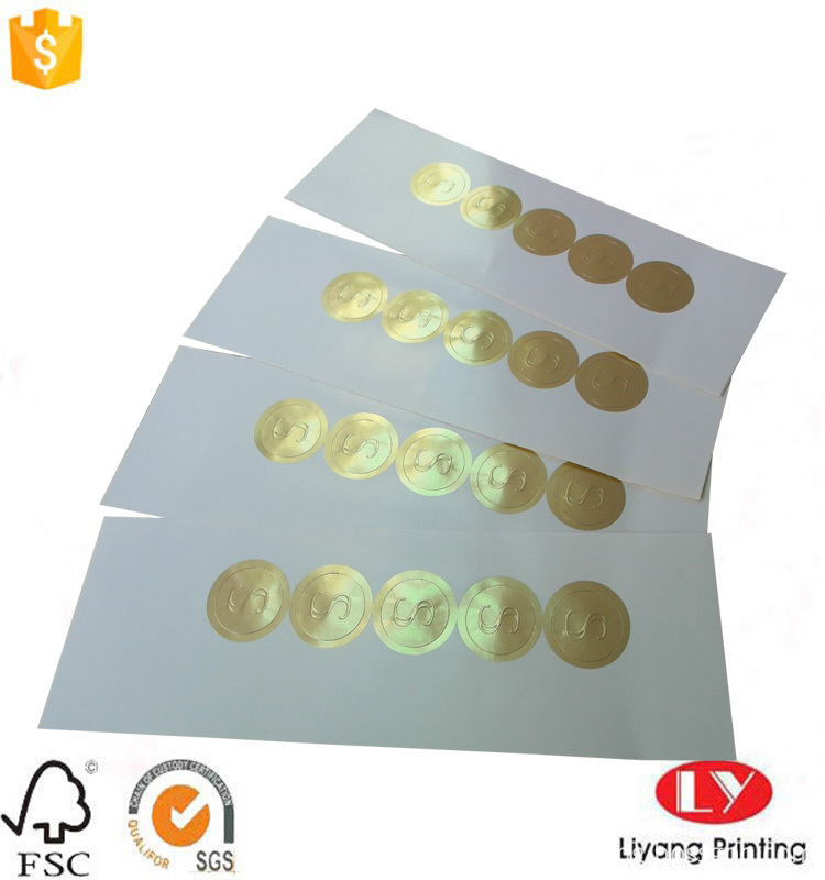 self-adhesive paper sticker