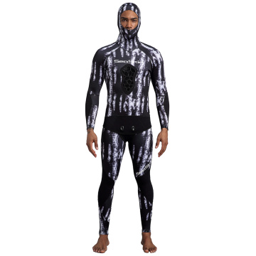 Seaskin 3.5mm Two Pieces Camo Spearfishing Wetsuit