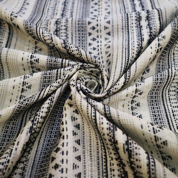 Stripe Pattern Polyester Jacquard Woven Fabric