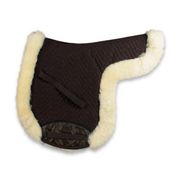 Jumping saddle pads with sheepskin