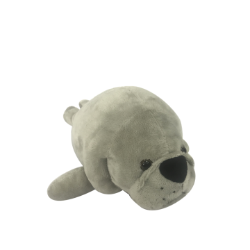 Plush Sea Manatee Gray Toy