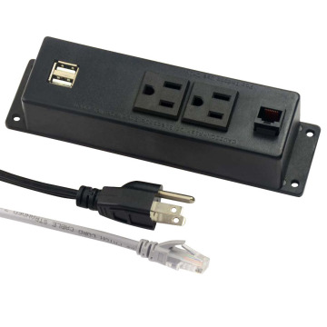 US Dual Power Outlets With Audio&Video Ports