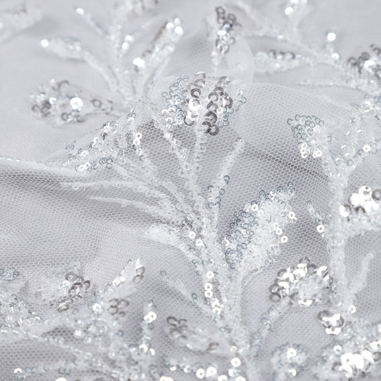 large sequin fabric high quality wedding dress