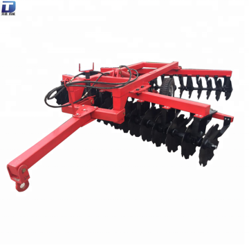Hydraulic offset tillage mechanical disc harrow