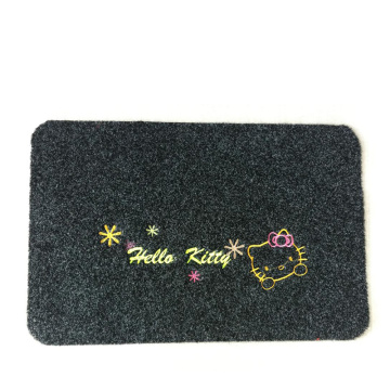 Embroidered anti slip mat for Kitchen