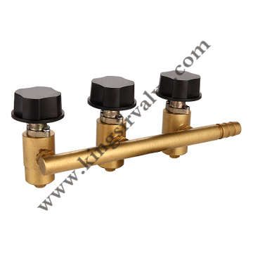 Gas brass angle valves