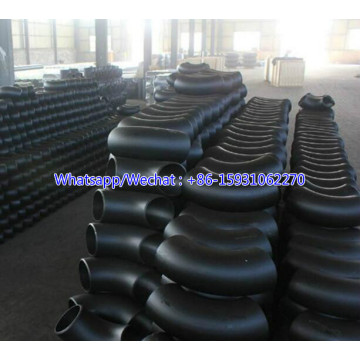 90deg Long radius pipe elbow black color