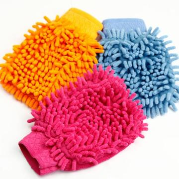 Colorful Eco-friendly soft car cleaning glove