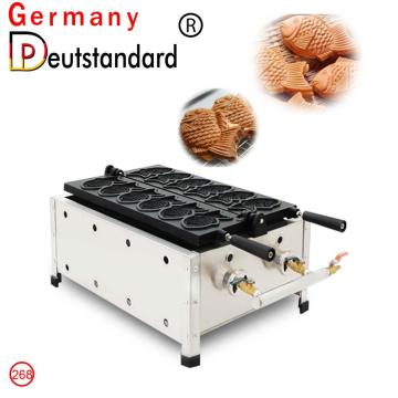 commercial 6 pcs gas fish taiyaki machine