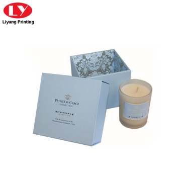 candle box paper packaging box with lid