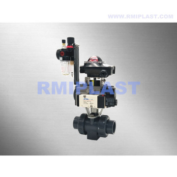 PP Ball Valve Pneumatic Operate Single Acting
