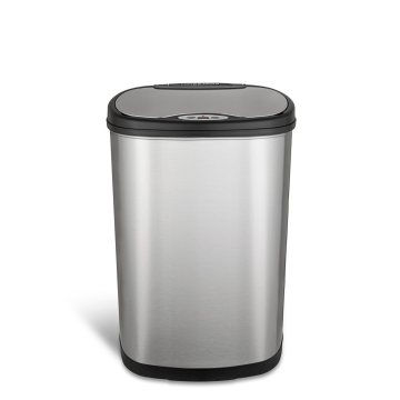 42L High-Tech Stainless Steel Waste Bin for Kitchen
