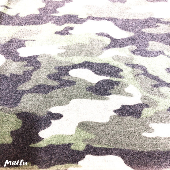 T/R/SPX camouflag print and brushed knitting