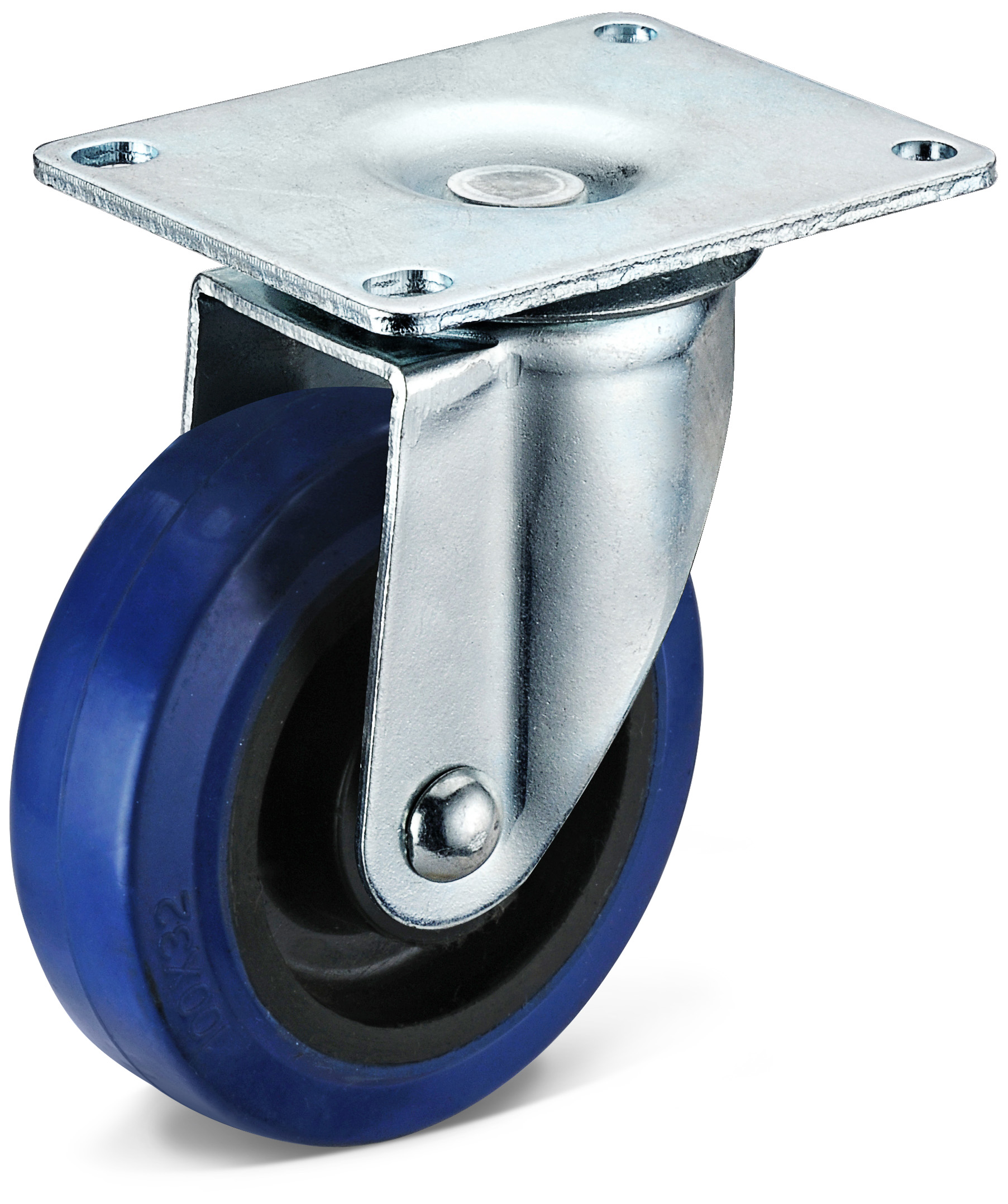 Rubber casters for shopping carts