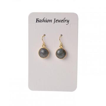 Fashion Accessories Gemstone Round Gilding Stud Earrings