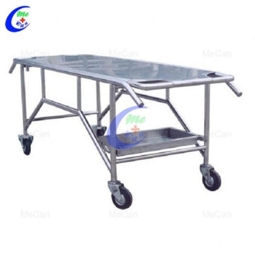 Hospital Stainless Steel Morgue Corpse Cart With Cover