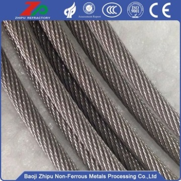 W1 dia 4.0mm tungsten wire rope