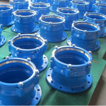 Ductile cast iron PE pipe fittings flange adaptor