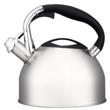 3.0L black nylon+zinc alloy handle whistling teakettle