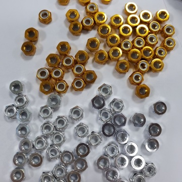 M3 Green aluminum lock nuts for hexacopter